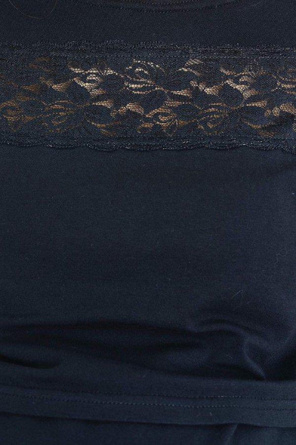 Zjawiskowa bluzka z koronka ciążowa i do karmienia 9089 czarna 3