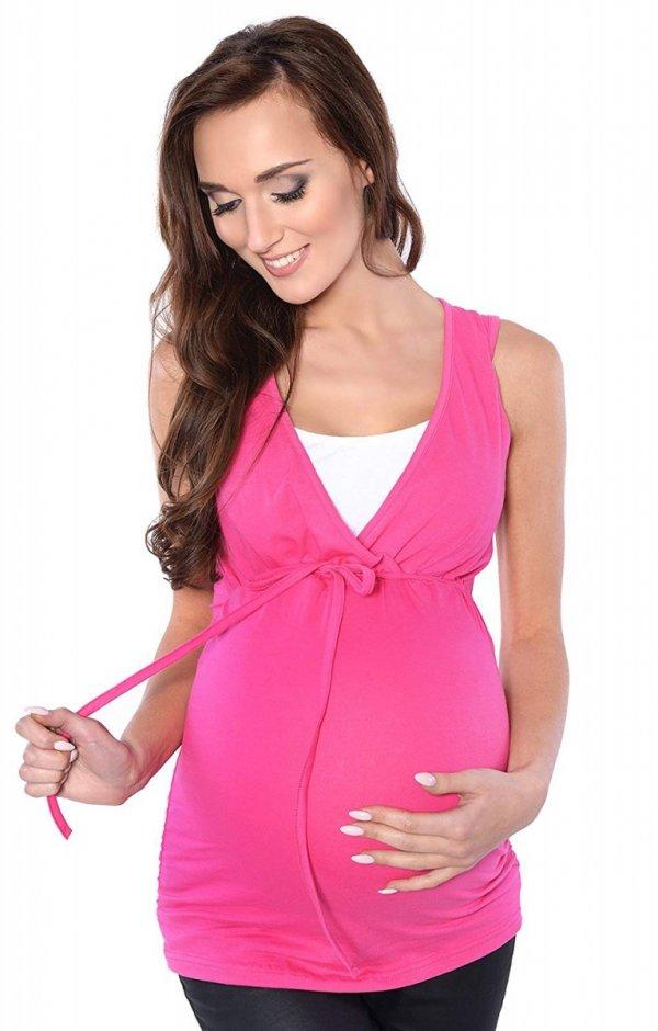 MijaCulture - bluzka 2 w 1 ciążowa i do karmienia M14/3092 róż 2