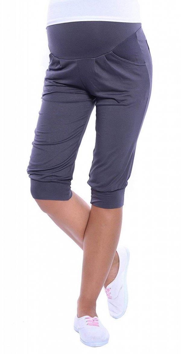 MijaCulture - spodnie rybaczki /alladynki ciążowe 4037/ M48 grafit 1