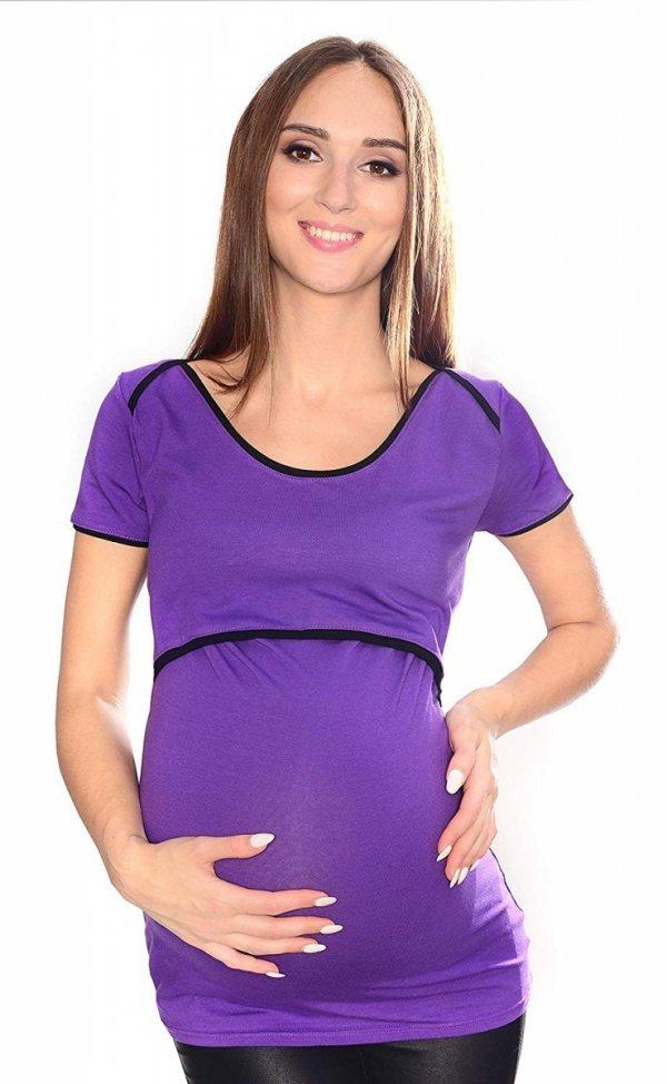 MijaCulture - bluzka 2 w1 ciążowa i do karmienia 1111 fiolet 3