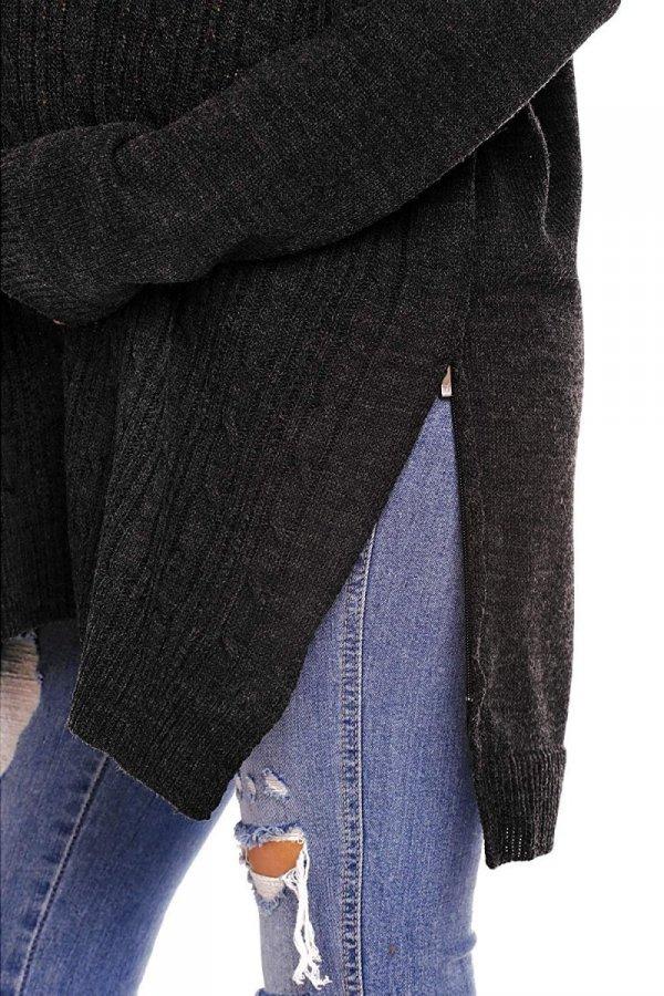 Funkcjonalny sweter 3 w 1 ciążowy i do karmienia 2013 grafit 4