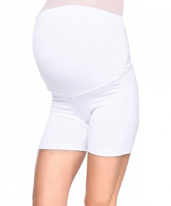 Wygodne krótkie legginsy ciążowe Mama Mia biały 3