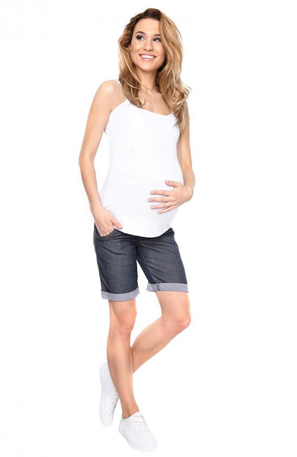 MijaCulture - szorty bermudy ciążowe 4006/M26 denim blue 2
