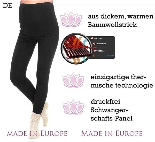 Komfortowe legginsy ciążowe zimowe 3006 grafit 5