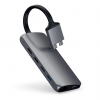 Satechi Dual Multimedia HUB USB-C / Ethernet/2 xHDMI/2xUSB 3.0/USB-C(PD)/SD/microSD/Space Gray