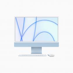 Apple iMac 24 4,5K Retina M1 8-core CPU + 7-core GPU / 8GB / 256GB SSD / Niebieski (Blue) - 2021