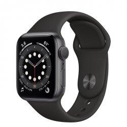 Apple Watch Series 6 40mm GPS Aluminium w kolorze gwiezdnej szarości z paskiem sportowym w kolorze czarnym - nowy model