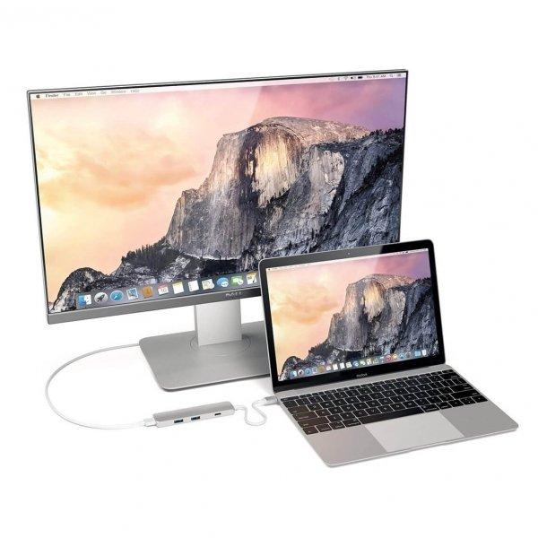 Satechi USB-C Slim Multiport HUB - 2xUSB 3.0 / HDMI / USB-C (PD) / Silver (srebrny)