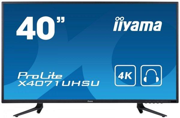 "IIYAMA 40"" ProLite 4K X4071UHSU-B1 MVA 4K 3ms HUB USB"