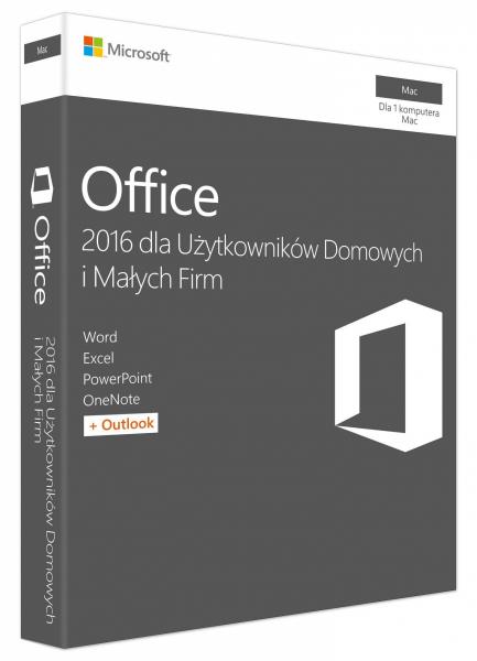 Microsoft Office 2016 dla macOS dla Użytkowników Domowych i Małych Firm W6F-00851