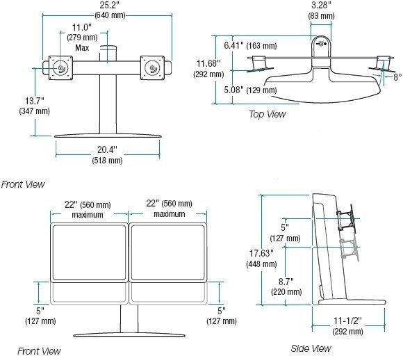 "Ergotron Neo-Flex Podstawa pod 2 LCD 22"""