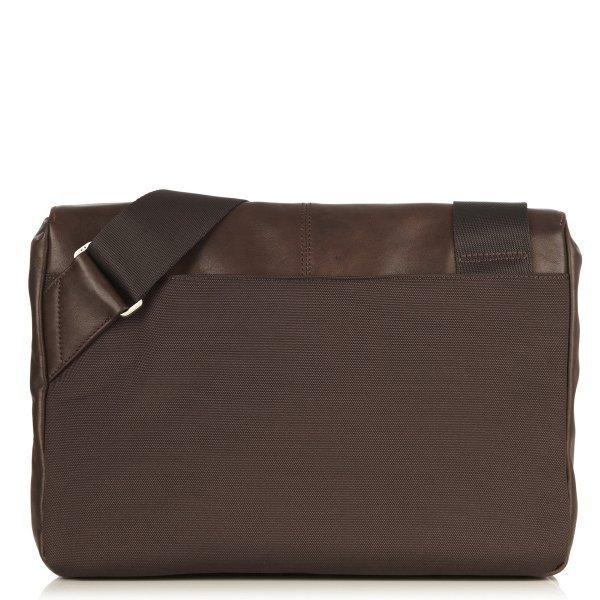 """Knomo Kinsale - torba skórzana na ramię do notebooka 13"""" (brązowa) 154-303-BRN"""
