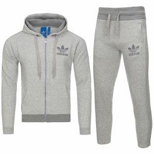 Adidas Originals męski sportowy szary dres komplet AB7587/AB7581