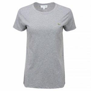 Lacoste t-shirt koszulka damska crew neck szara