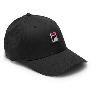 Fila Box logo czapka z daszkiem czarna bejsbolówka