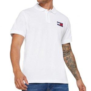 Tommy Jeans Hilfiger koszulka polo polówka męska Slim Fit biała