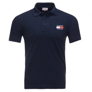 Tommy Jeans Hilfiger koszulka polo polówka męska Slim Fit granatowa