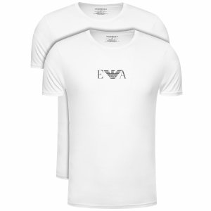 Emporio Armani t-shirt koszulka męska 2pack biała