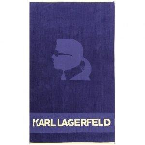 Karl Lagerfeld ręcznik niebieski