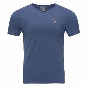 Aeronautica Militare t-shirt koszulka v-neck męska granatowa
