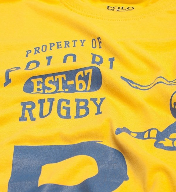 T-shirt męski Ralph Lauren żółty