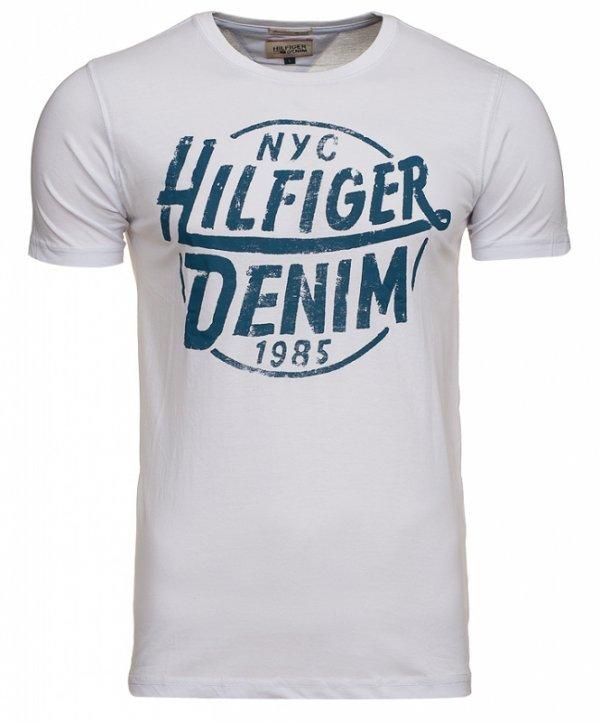 T-shirt męski Tommy Hilfiger Denim biały