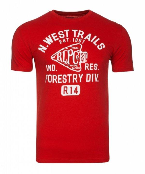 T-shirt męski Ralph Lauren czerwony