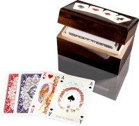 Karty lux w pudełku drewnianym z asami
