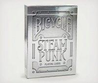 Karty Bicycle SteamPunk Silver - otwarte pudełko