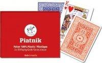 Piatnik Plastikowe karty do pokera 2 talie