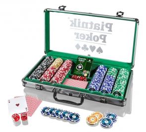 Piatnik Poker Alu-Case - 300 żetonów 14g