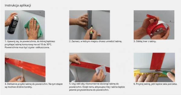 3M™ Scotchlite™ Flexible Prismatic Taśma konturowa serii 957-72S czerwona