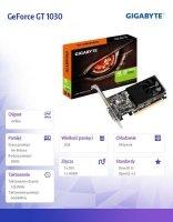 Karta graficzna GeForce GT 1030 2GB GDDR5 64BIT PCI-e/HDMI/DVI