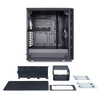 Define C TG Black 3.5'HDD 2.5'SDD uATX/ATX/ITX
