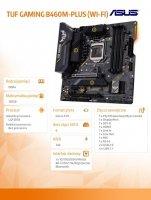 Płyta główna TUF GAMING B460M-PLUS ( WI-FI) s1200 4DDR4 DP/HDMI mATX