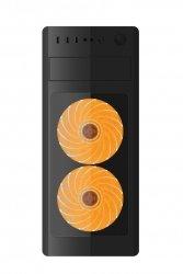 Obudowa Midi Tower Fornax 1000 O pomarańczowa