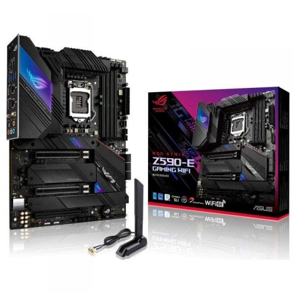Płyta Asus ROG STRIX Z590-E GAMING WIFI /Z590/DDR4/SATA3/M.2/USB3.2/WiFi/BT/PCIe4.0/s.1200/ATX