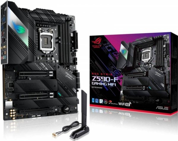 Płyta Asus ROG STRIX Z590-F GAMING WIFI /Z590/DDR4/SATA3/M.2/USB3.2/WiFi/BT/PCIe4.0/s.1200/ATX