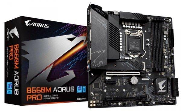 Płyta Gigabyte B560M AORUS PRO (rev. 1.0) /B560/DDR4/SATA3/M.2/USB3.1/PCIe3.0/s.1200/mATX