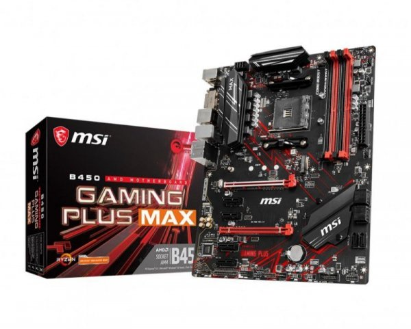 Płyta MSI B450 GAMING PLUS MAX/AMD B450/DDR4/SATA3/M.2/USB3.1/PCIe3.0/AM4/ATX