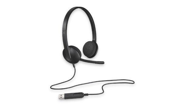 H340 Słuchawki z mikrofonem 981-000475 Black
