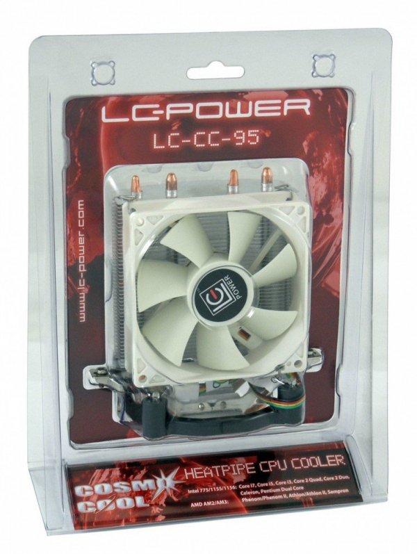 WENTYLATOR CPU LC-CC-95 INTEL SOC. 775 1155 1159 AMD AM2AM3 4PIN PWM