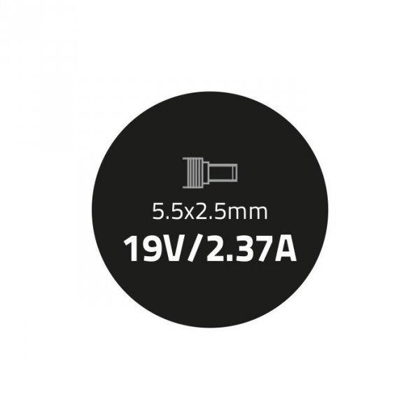 Zasilacz do ultrabooka Toshiba 45W | 19V | 2.37A | 5.5*2.5