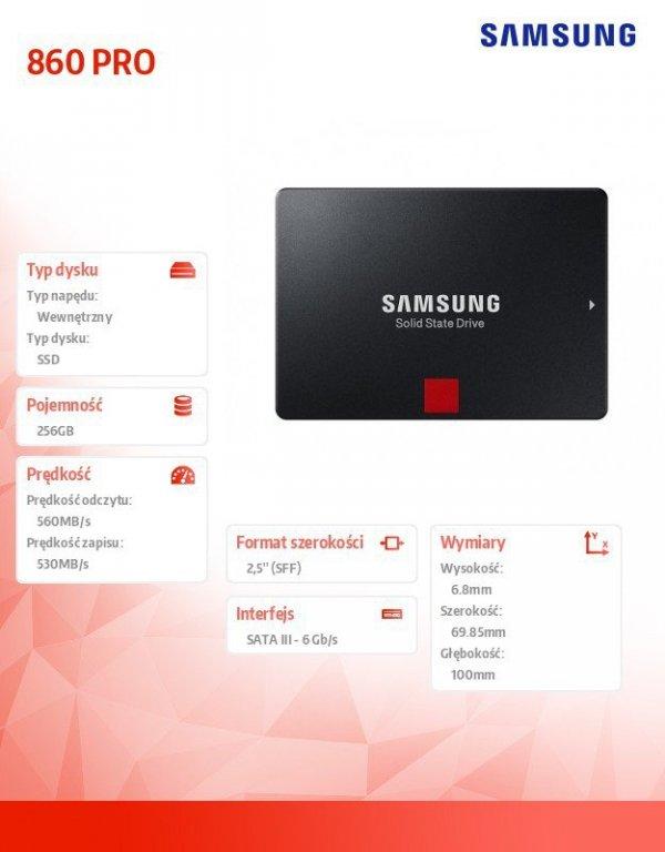 Dysk SSD 860PRO MZ-76P256B/EU 256 GB