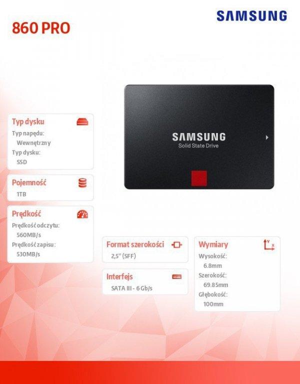Dysk SSD 860PRO MZ-76P1T0B/EU 1 TB