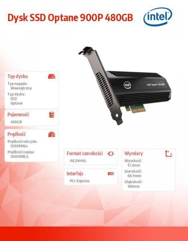 Dysk SSD Optane 900P 480GB