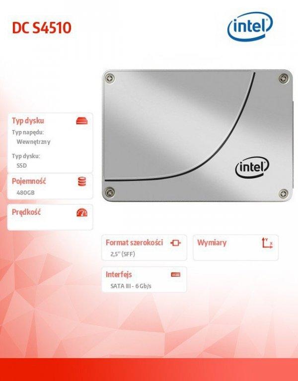 Dysk SSD DC S4510 Series (480GB, 2.5in SATA 6Gb/s, 3D2, TLC) Generic Single Pack