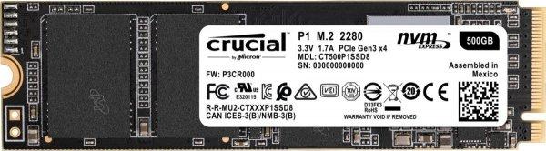 Dysk SSD P1 500GB M.2 PCIe NVMe 2280 1900/950MB/s