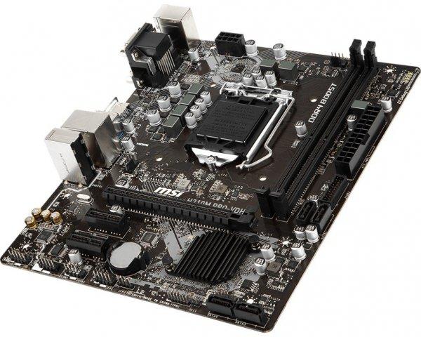 Płyta główna H310M PRO-VDH PLUS S1151 2DDR4 VGA/DVI/HDMI m-ATX