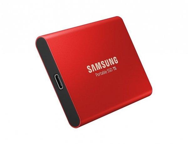 Dysk SSD T5 Portable 1TB 3.1 Gen.2 czerwony
